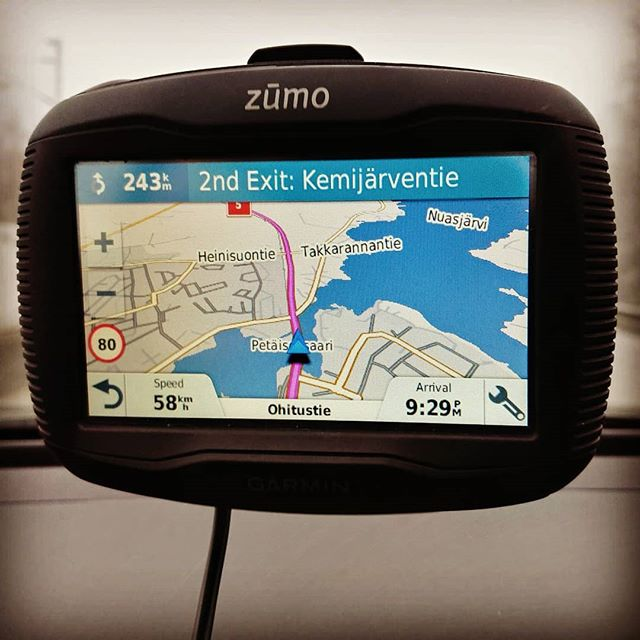 Navigation made easy... Take the second exit in 243km  #tolapland #suomi #finland #2019
