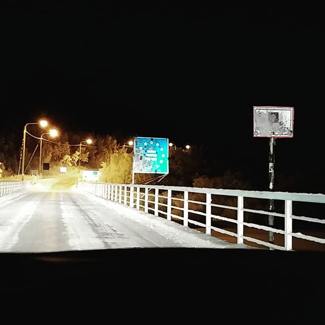 On our way back to Inari after a great day in Northern Norway... #border #norway #lapland #suomi #finland #2019