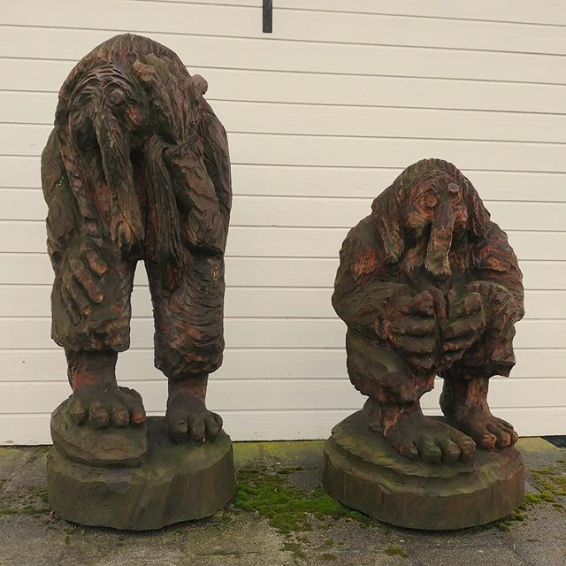The Norwegian trolls are guarding our home #barsnes #sogndal #norway #february #2020