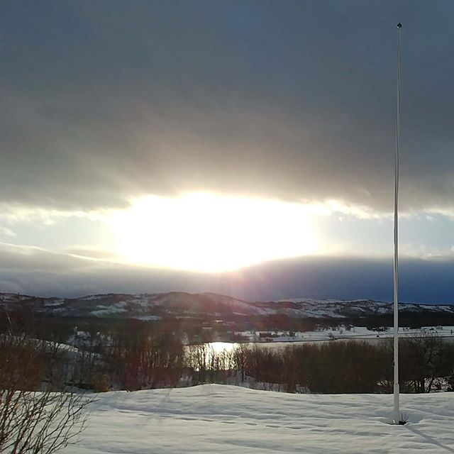 Another sunny morning :-) #sunshine #valnesfjord #norway #february #2020